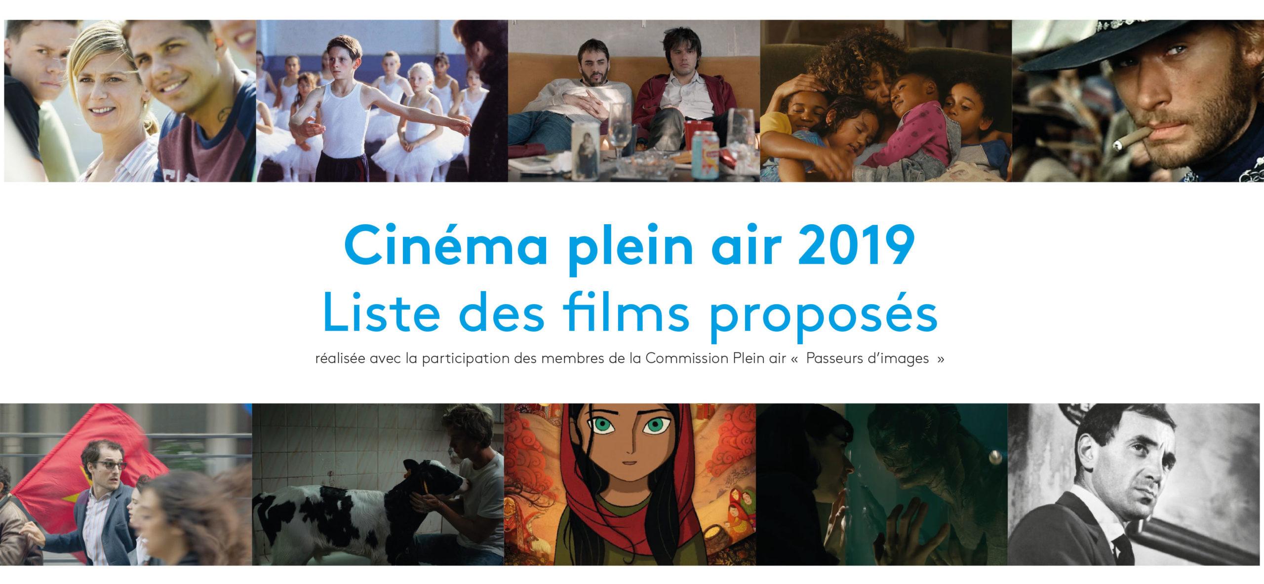 La liste des films pour le plein air Passeurs d'images 2019